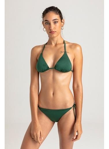Vulevu Üçgen Örgü Sırt Bikini Haki
